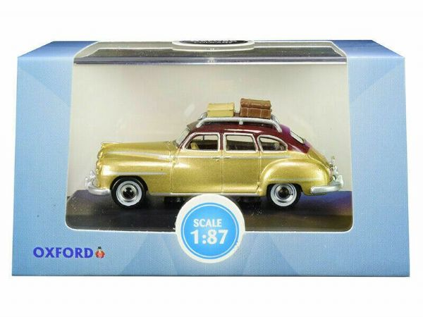 OXFORD 87DS46003 1/87 HO Scale DESOTO SUBURBAN 1946 RHYTHM BROWN TRUMPET GOLD